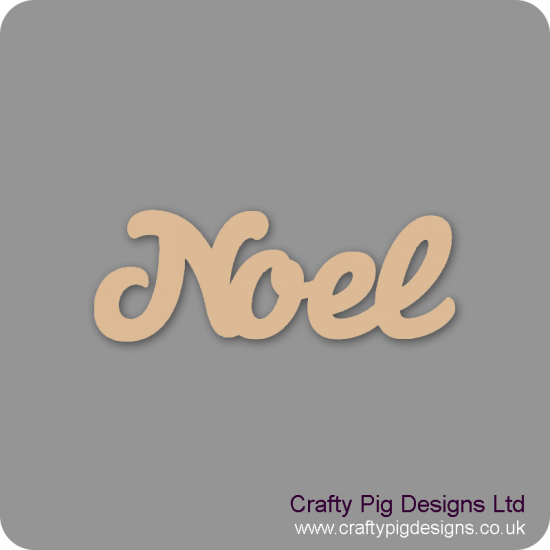 3mm MDF Noel Word In Susa Font Joined Words