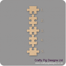 3mm MDF Jigsaw Piece (Choose from selection) ENGRAVED Basic Shapes