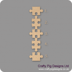 3mm MDF  Hanging Jigsaw Piece (Choose from selection) BLANK PIECES ONLY