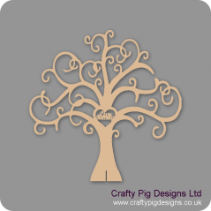 3mm or 4mm MDF Our Family Tree - Freestanding or Flat  (not personalised) Trees Freestanding, Flat & Kits