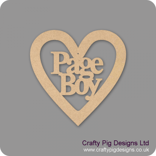 3mm MDF Page Boy Wedding Heart Wedding
