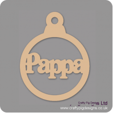 3mm MDF Pappa Bauble Christmas Baubles