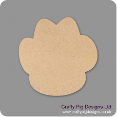 3mm MDF Paw Print Outline Only  Animal Shapes