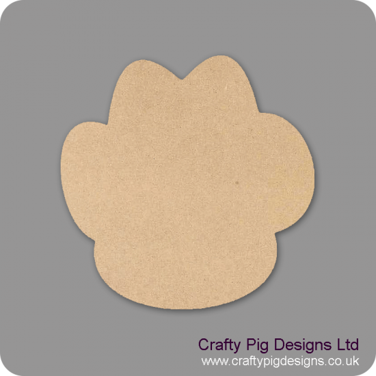 3mm MDF Paw Print Outline only (pack of 10)