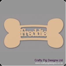 3mm MDF Personalised Dog Bone Bauble Personalised and Bespoke