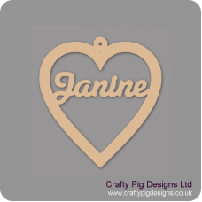 3mm MDF Personalised Heart Personalised and Bespoke