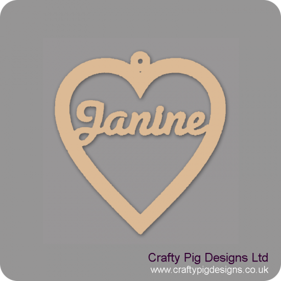 3mm MDF Personalised Heart