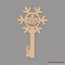 3mm MDF Personalised Snowflake Magic Key Christmas Shapes