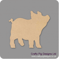 3mm MDF Piglet Small MDF Embellishments