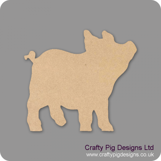 Piglet (Pack of 5)(4cm) Small MDF Embellishments
