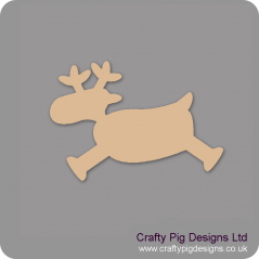 3mm MDF Prancing Reindeer (pack of 5) Christmas Shapes