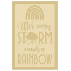 3mm Layered A4 Plaque After Every Storm Comes A Rainbow Personalised and Bespoke