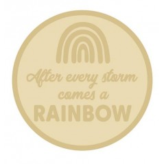 3mm Layered Circle Plaque - After Every Storm Comes A Rainbow Personalised and Bespoke