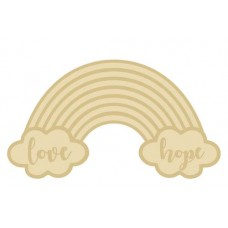 3mm Layered Rainbow Plaque - Love and Hope Words Personalised and Bespoke