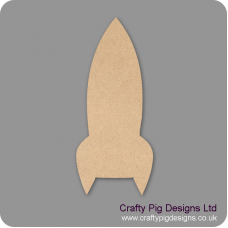 Rocket  (Pack of 5)(4cm) Small MDF Embellishments