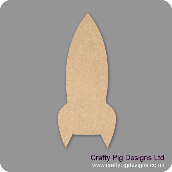 3mm MDF Rocket Bunting (pack of 10) Bunting