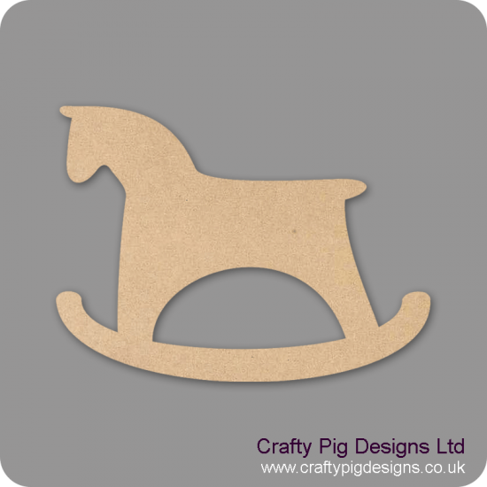 3mm MDF Rocking Horse (pack of 5) Baby Shapes