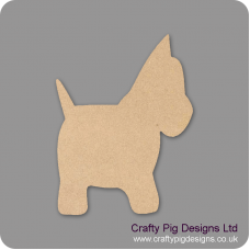 3mm MDF Scotty Dog Animal Shapes