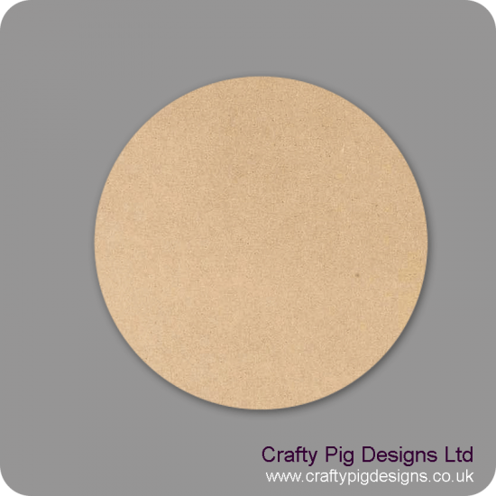 3mm MDF Small Discs  Basic Shapes