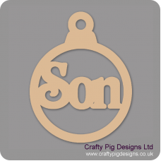 3mm MDF Son Bauble Christmas Baubles