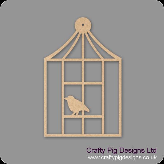 3mm MDF Square Birdcage Birdcages