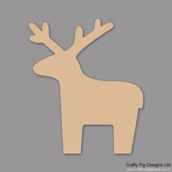 3mm MDF Standing Reindeer (Pack of 5) Christmas Shapes