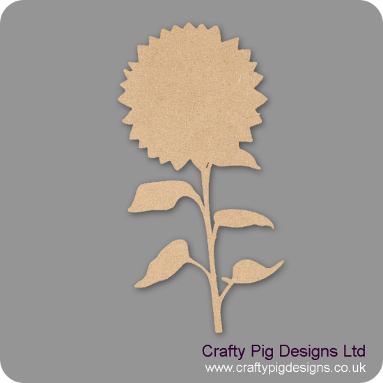 Sunflower (Pack of 4)(5cm) Small MDF Embellishments