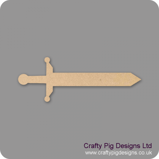 3mm MDF Sword Small MDF Embellishments