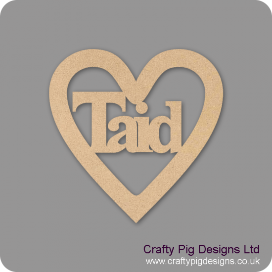 3mm MDF Taid Heart Hearts With Words