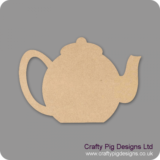 18mm Teapot (by width) 18mm MDF Craft Shapes