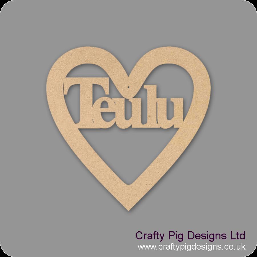3mm MDF Teulu Cut Out Heart 150mm