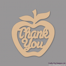3mm MDF Thank you - Hanging Apple Teachers