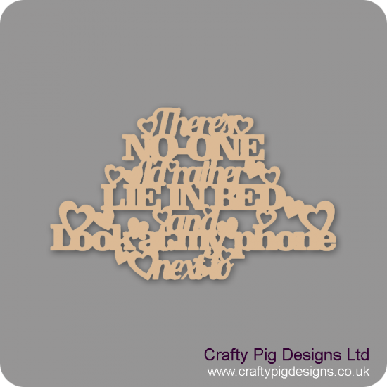 3mm MDF There's no one... hanging sign Valentines