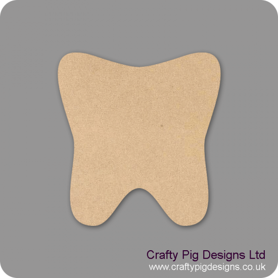 3mm MDF Tooth (pack of 10)(3cm) Baby Shapes