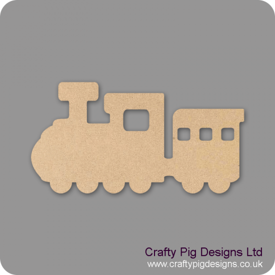 3mm MDF Train and Carriages (one carriage) Transport