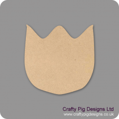 3mm MDF Tulip Head Flowers and Garden