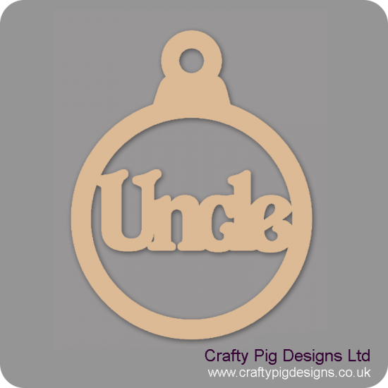 3mm MDF Uncle Bauble Christmas Baubles