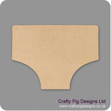 3mm MDF Underpants Small MDF Embellishments