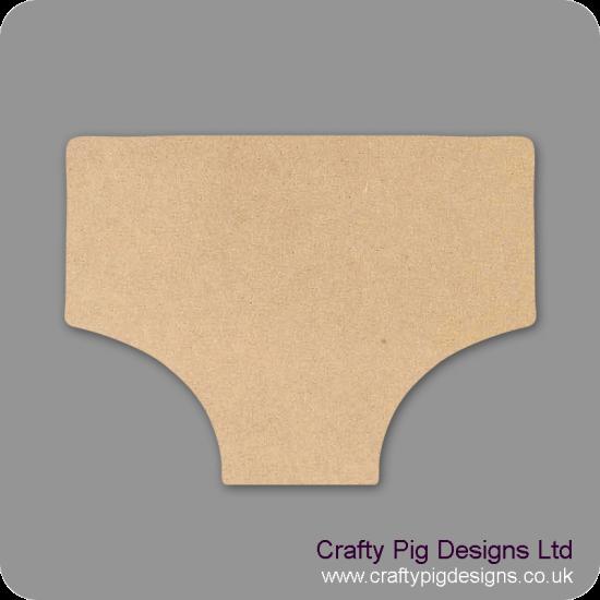 3mm MDF Underpants Small MDF Embellishments