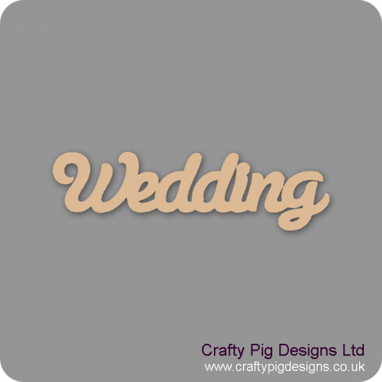 3mm MDF Wedding Word Joined in Susa Font Joined Words
