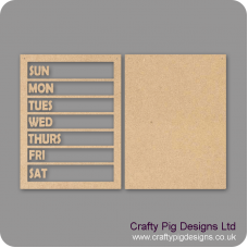3mm MDF Weekly Planner Board Chalkboard Countdown Plaques