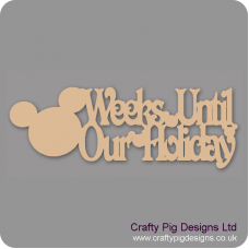3mm MDF Mouse Head Weeks Until Our Holiday Chalkboard Sign Chalkboard Countdown Plaques