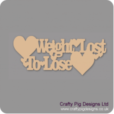 3mm MDF Weight lost/to Lose Chalkboard Countdown Plaques