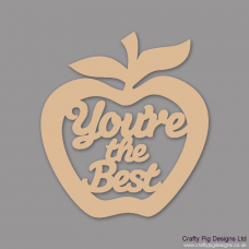 3mm MDF You're the best - Hanging Apple Teachers