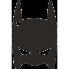 Black Acrylic Superhero Full Mask (10cm) (with 1 hole) Fathers Day