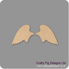 3mm MDF Angel wings Set Shape Baby Shapes