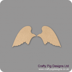 3mm MDF Angel wings Set Shape Baby Shapes