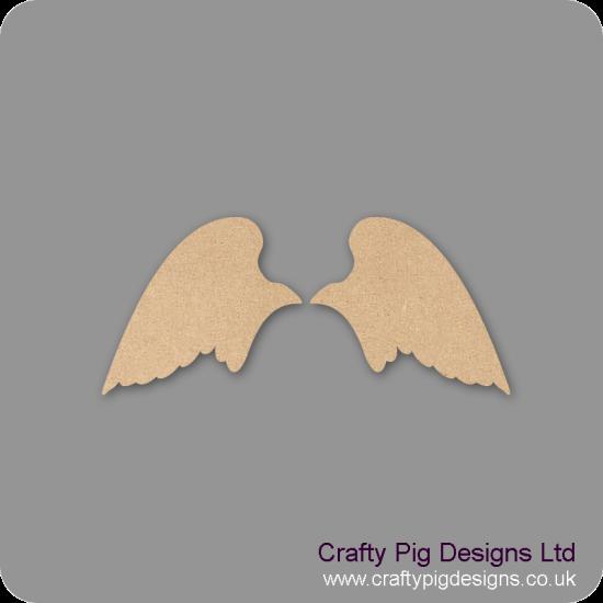 3mm MDF Angel wings Set Shape