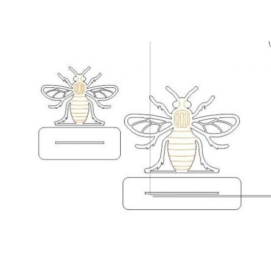 3mm Bee on Plinth Animal Shapes