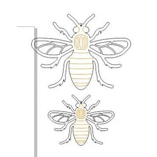 3mm Hanging Bee Animal Shapes
